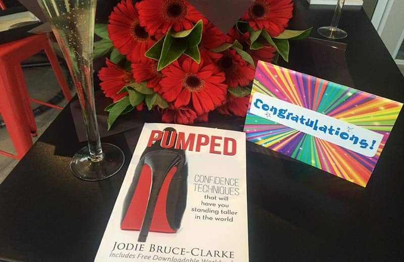 JOdie Bruce-Clarke Book Pumped Congratulations